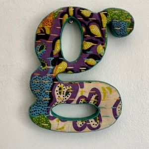 🆕 Colorful Fabric Paisley G letter